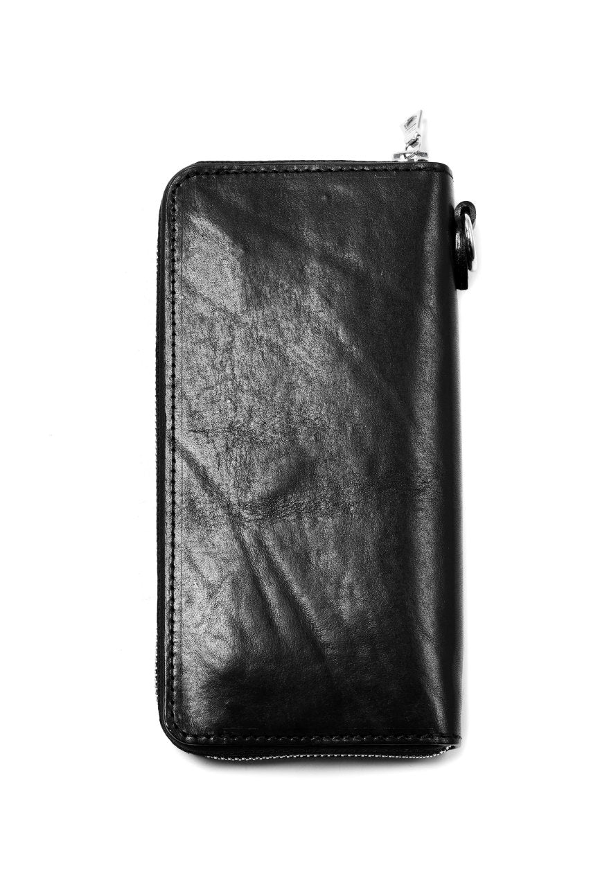 ISAMU KATAYAMA BACKLASH exclusive ROUND FASTNER WALLET / Italy Double Shoulder(PULL UP WAXED)