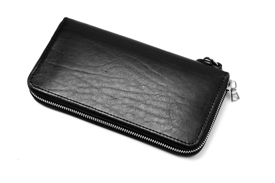 画像をギャラリービューアに読み込む, ISAMU KATAYAMA BACKLASH exclusive ROUND FASTNER WALLET / Italy Double Shoulder(PULL UP WAXED)