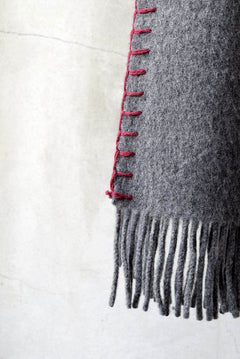 Load image into Gallery viewer, Syouichi Sasa×N/07 BLANKET#03 (GREY×RED)