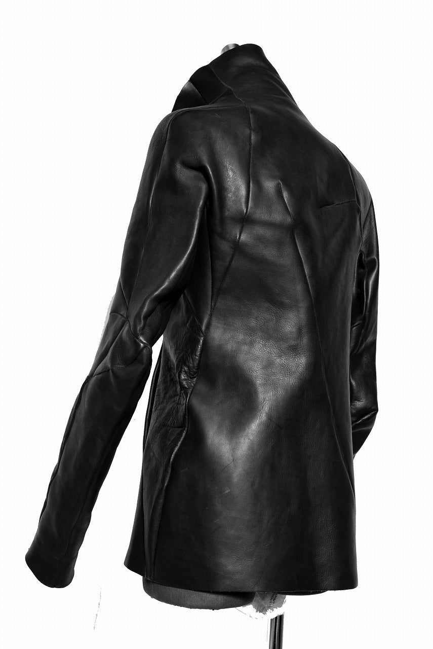 LEON EMANUEL BLANCK DISTORTION LEATHER JACKET / GUIDI CALF (BLACK)