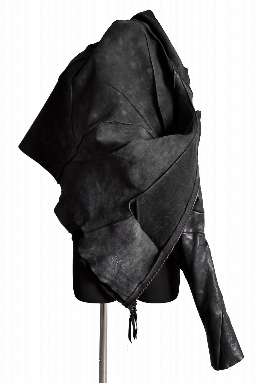 画像をギャラリービューアに読み込む, LEON EMANUEL BLANCK DISTORTION AVIATOR JACKET / GUIDI MUSTANG HORSE (BLACK)