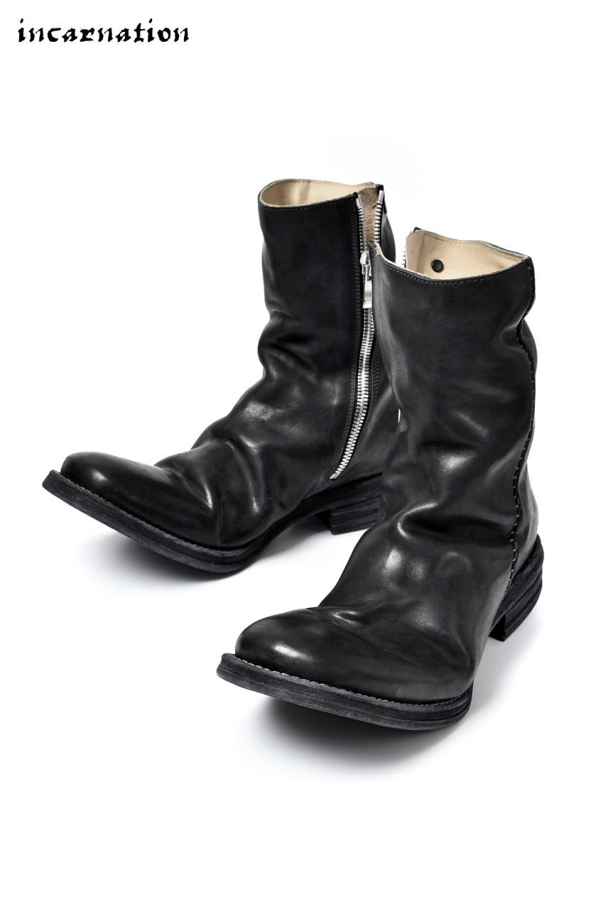incarnation exclusive OILED HORSE LEATHER SIDE-ZIP/HAND STITCH LINED BOOTS