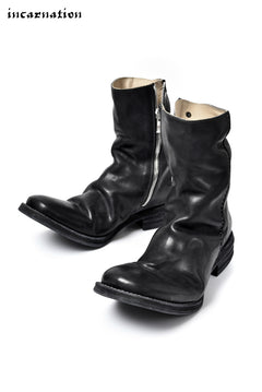 画像をギャラリービューアに読み込む, incarnation exclusive OILED HORSE LEATHER SIDE-ZIP/HAND STITCH LINED BOOTS