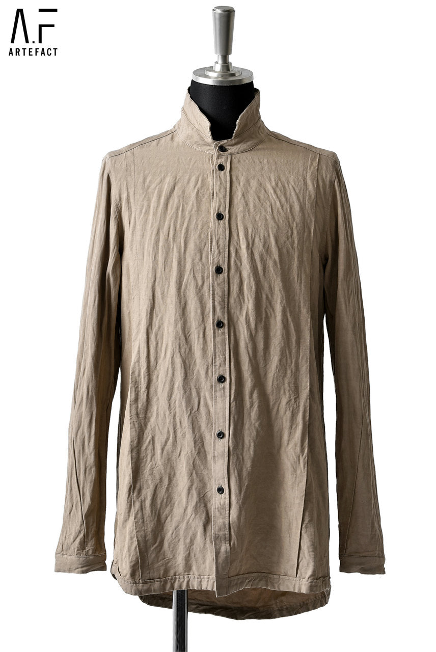 A.F ARTEFACT exclusive CRINKLED SHIRT / VISCOSE-LINEN