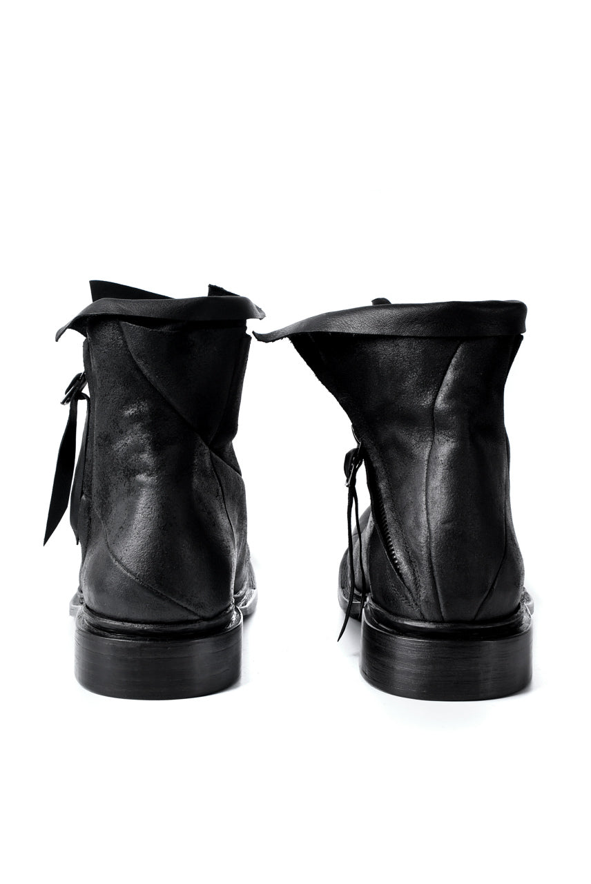 画像をギャラリービューアに読み込む, LEON EMANUEL BLANCK x Dimissianos & Miller DISTORTION ANKLE BOOTS / GUIDI CALF REVERSED (BLACK)