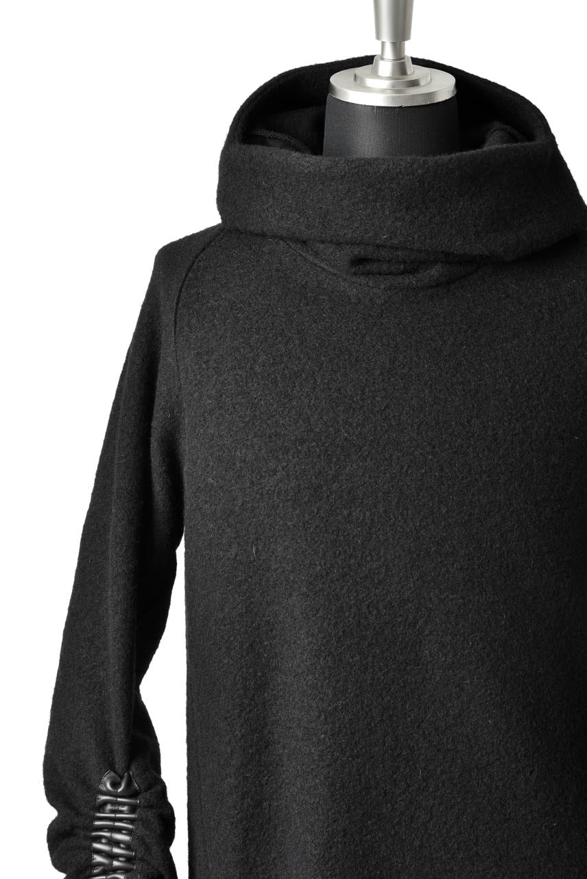 SOSNOVSKA exclusive DRAPED COCOON LONGSLEEVE HOODIE KNIT (BLACK STRIPE)