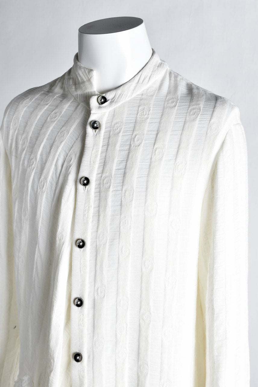 SOSNOVSKA exclusive WHITE ASYMMETRIC BLOUSE (WHITE)