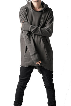Load image into Gallery viewer, thomkrom BRUSHED BACK LONG HOODIE / FRENCH-TERRY (TAUPE)