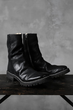 Load image into Gallery viewer, incarnation exclusive HORSE BUTT LEATHER HAND STITCH SIDE ZIP BOOTS / VB#100 (BLACK)
