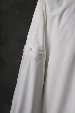 画像をギャラリービューアに読み込む, KAZUYUKI KUMAGAI Paneled Shirt Detachable-Detail / Typewriter C/Silk (WHITE)