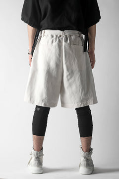 画像をギャラリービューアに読み込む, KAZUYUKI KUMAGAI Wrap Wide Shorts / Strong Twist C/Li Ox (WHITE)