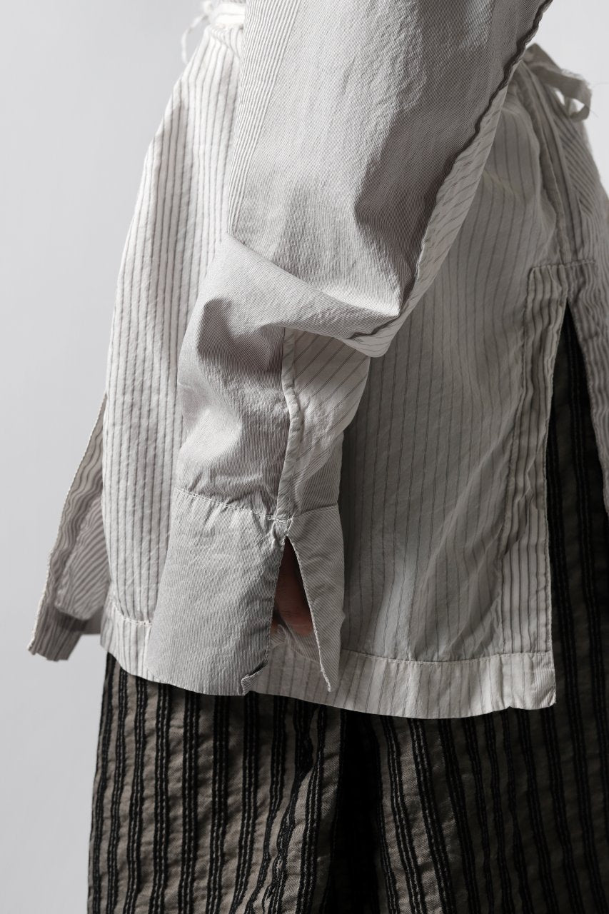 un-namable Mad Dolman Shirt #2 / Silky Cotton Stripe (NATURAL)