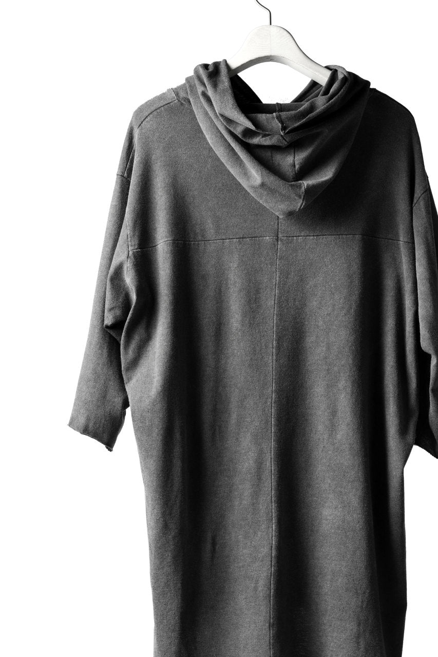 A.F ARTEFACT RELAX HOODIE TOPS / DYED COTTON JERSEY (GREY)