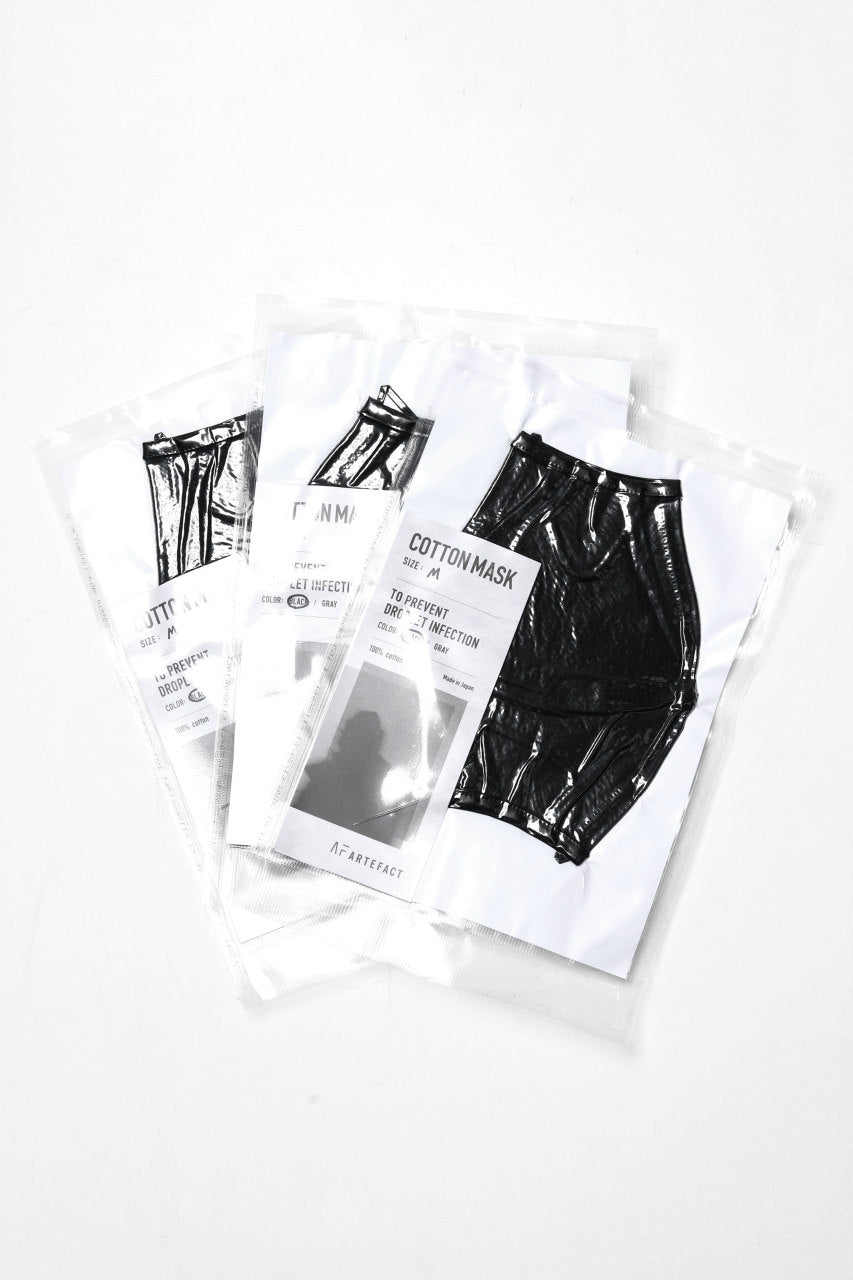 A.F ARTEFACT exclusive COVERED FACE MASK (GREY OVER LOCK)