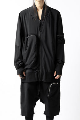 thomkrom RADICAL ZIP-POC TECH BOMBER JACKET (BLACK)