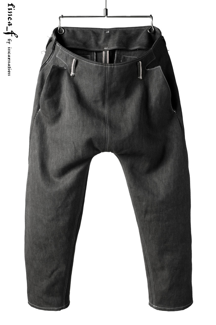 linea_f by incarnation Selvedge Drop Clotch Cropped Pants