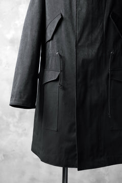 画像をギャラリービューアに読み込む, COLINA M-1948 HOOD PARKA COAT / HIGH DENSITY MILICLOTH (BLACK)
