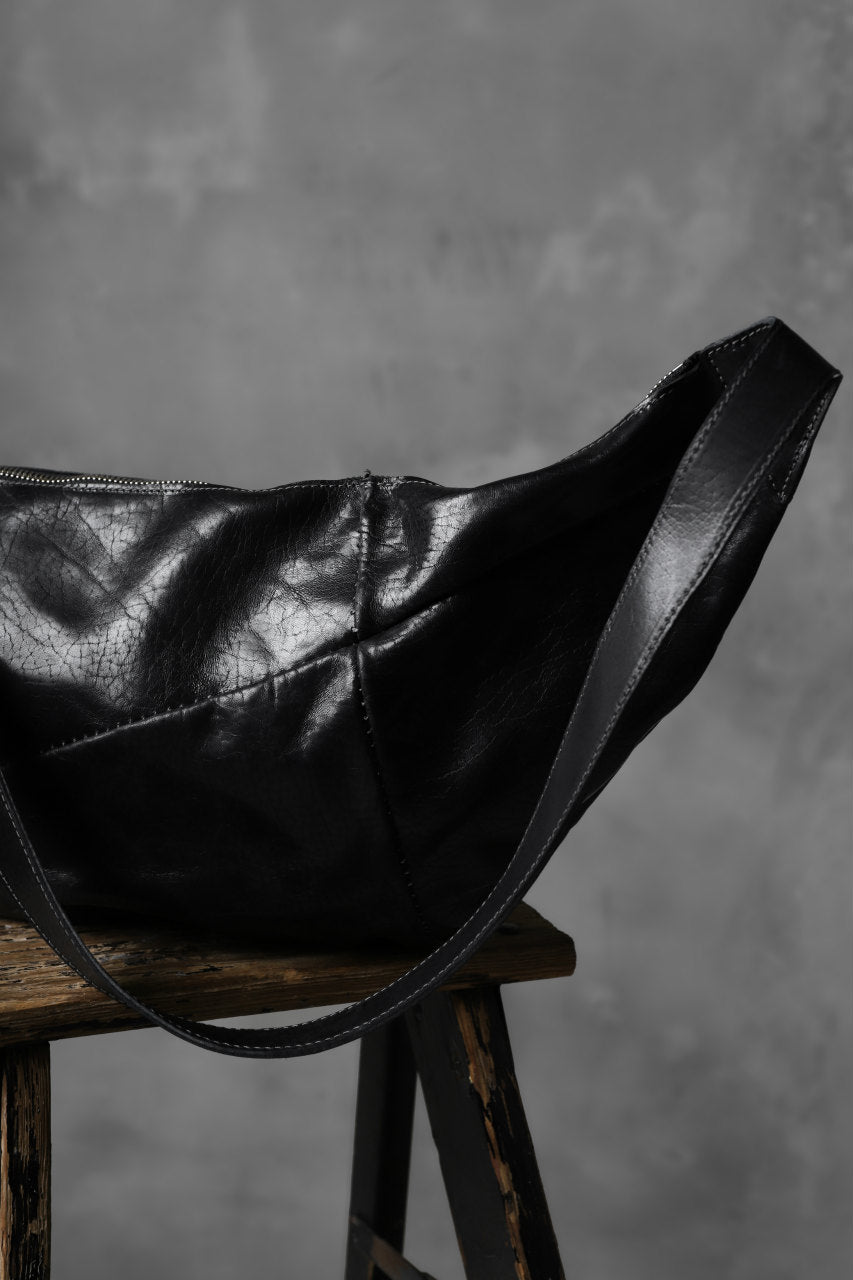 incarnation HORSE BUTT LEATHER 2WAY SHOULDER BAG / SHINY WAXED (BLACK)
