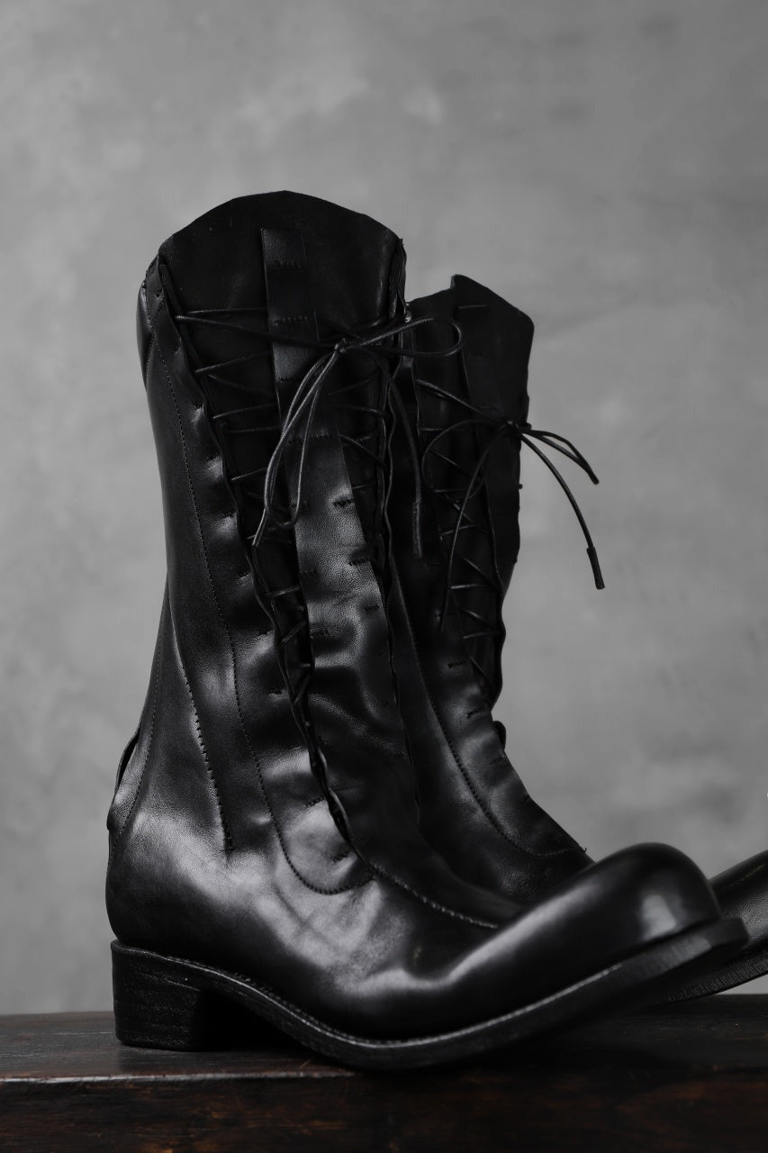 LEON EMANUEL BLANCK DISTORTION COMBAT BOOT / GUIDI OILED HORSE (BLACK)