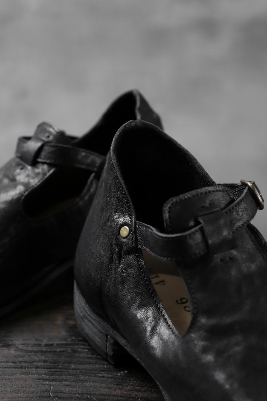 "画像をギャラリービューアに読み込む, Portaille ""one make"" Strap Shoes (Heat Shrink Horse Leather / BLACK)"