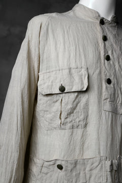 "画像をギャラリービューアに読み込む, daska ""vincent"" painter-smock shirt / light linen (ECRU)"