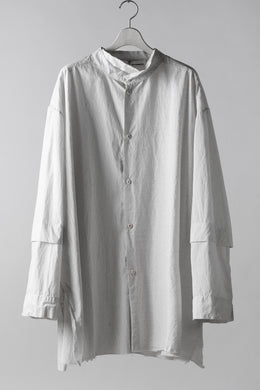 un-namable page Overfit/Layer Shirt / Cotton Stripe (IVORY)