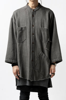 A.F ARTEFACT exclusive COVER-ALL JACKET / LOW COUNT DENIM (DYED GREY)