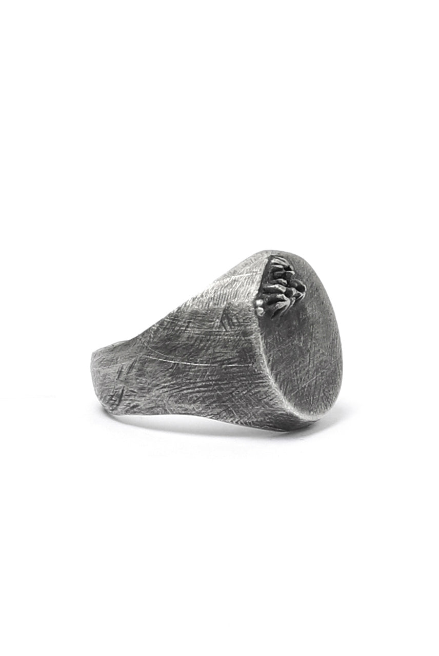 Holzpuppe Barnacle Vertical Oval Silver Ring (BR-519)