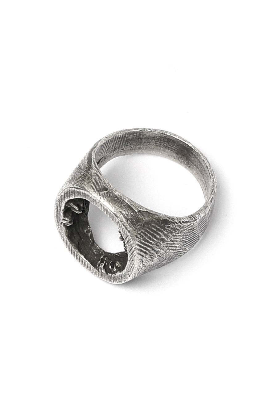Holzpuppe Barnacle Hollow Silver Ring (BR-601)