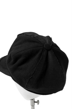 画像をギャラリービューアに読み込む, der antagonist. HAND CRAFTED CASQUETTE (WOOL TWEED+RAMIE PATCHED)