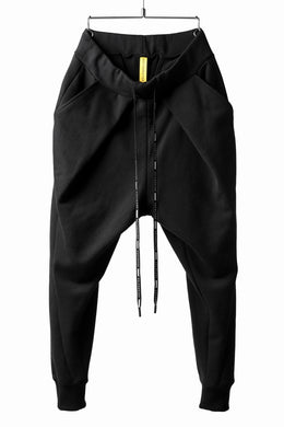 DEFORMATER.® FOLDING TUCK JOGGER PANTS / FLEECY HEAT COTTON (BLACK)