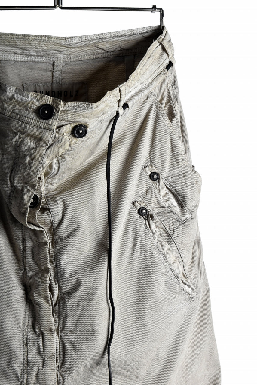 RUNDHOLZ DIP DEEP CROTCH GATHERING SHORTS (UMBRA)