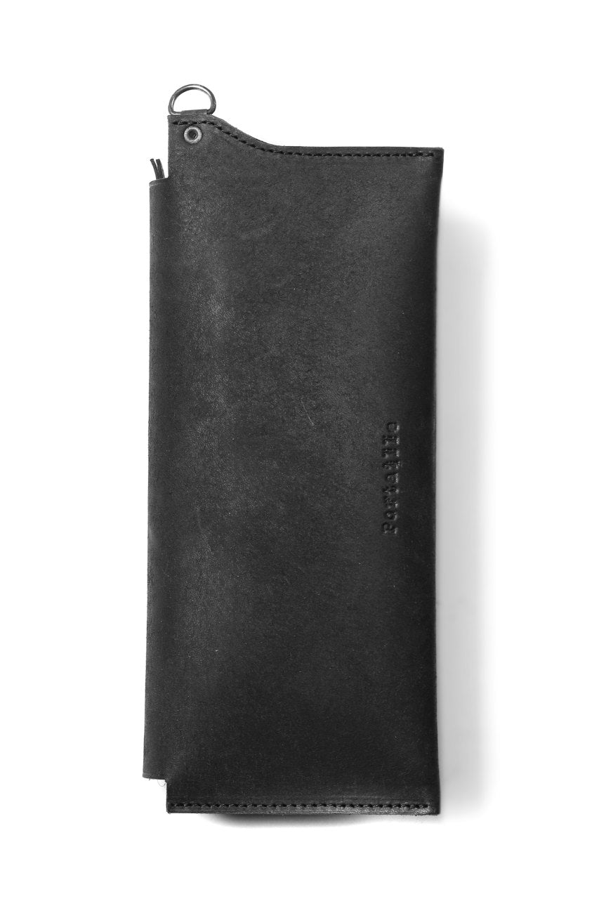 "Portaille ""Atelier Made"" exclusive LONG WALLET / PUEBLO by Badalassi Carlo (BLACK)"