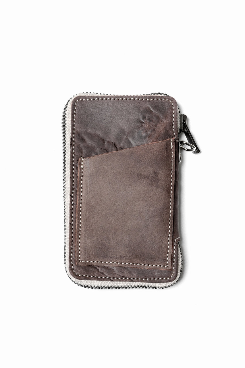 "Load image into Gallery viewer, Portaille ""Limited Made"" ZIP KEY CASE / Culatta Reverse (BROWN)"