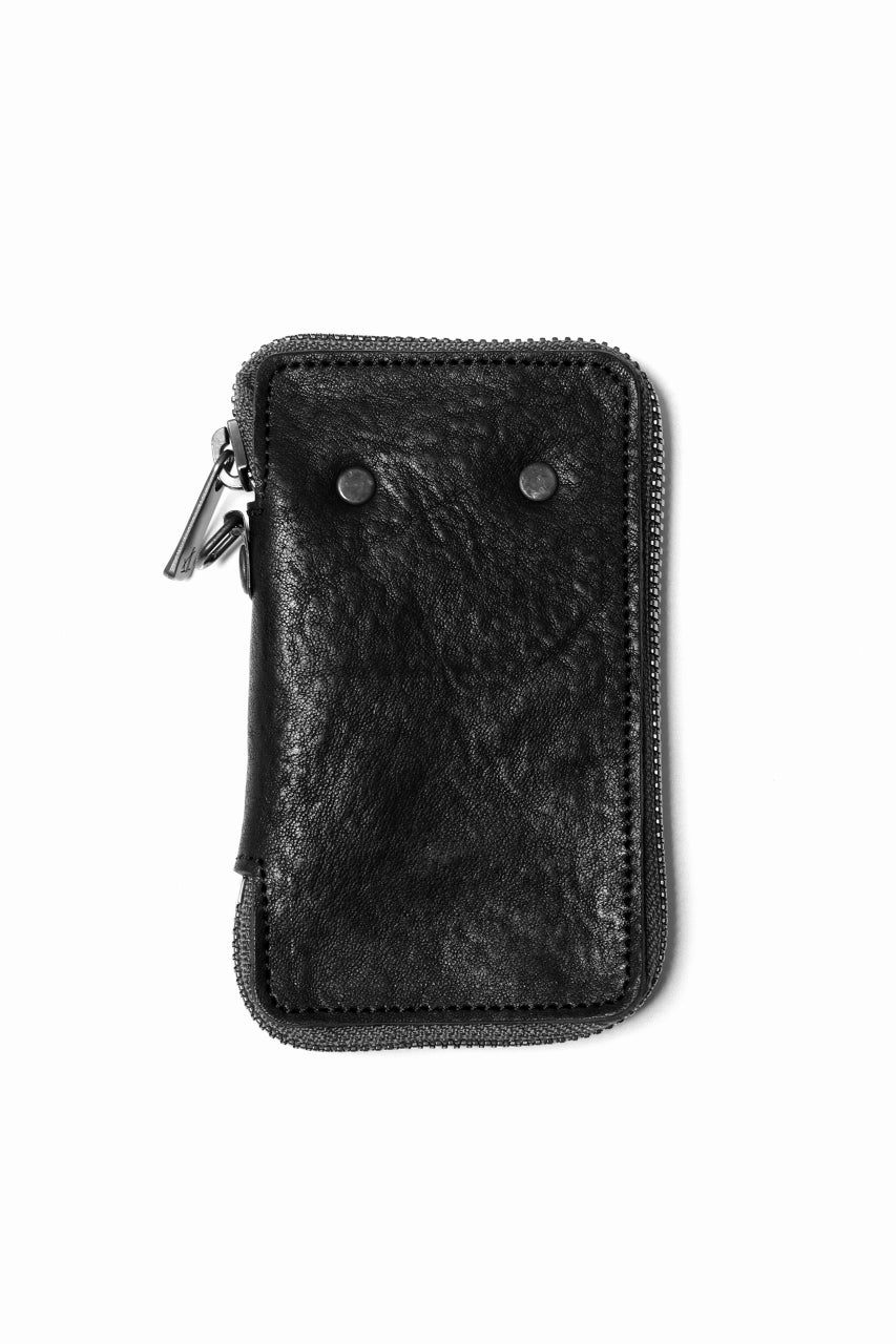 "Portaille ""Limited Made"" ZIP KEY CASE / Italy Vachetta (BLACK)"