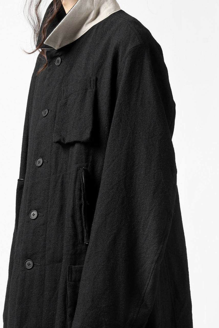 KLASICA KISTE-TWEED SHORT COAT / OFF TWEED WOOL (BLACK)