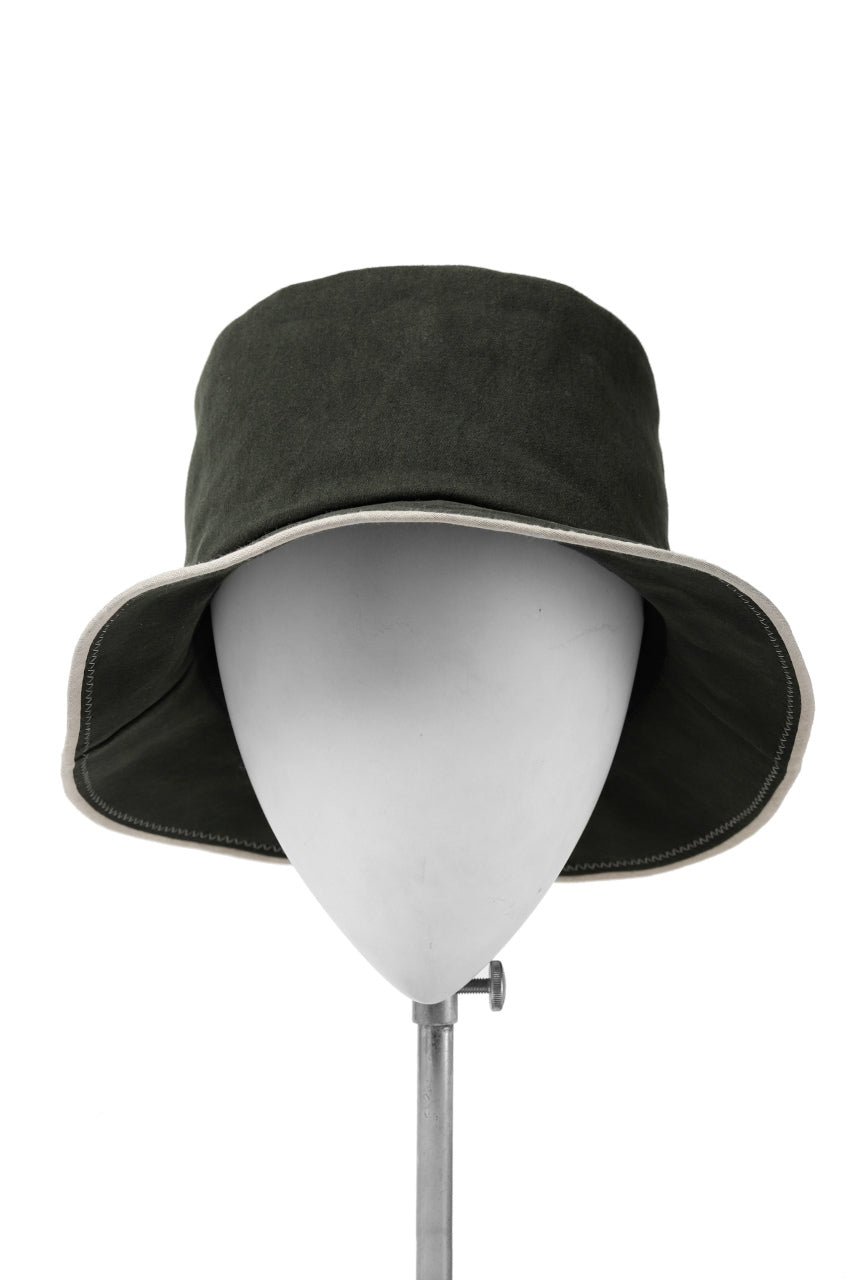 Load image into Gallery viewer, der antagonist. HAND CRAFTED BRIM HAT (COTTON / EDGE PIPING)