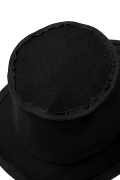 画像をギャラリービューアに読み込む, der antagonist. HAND CRAFTED BRIM HAT (WOOL TWEED+RAMIE / EDGE PIPING)