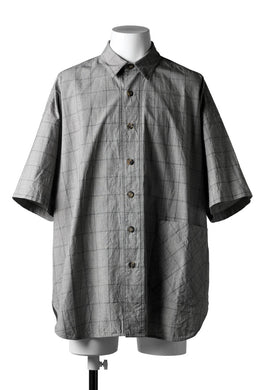 forme d'expression Round Hem Shirt  / Windpen Plaid (Hazy Grey)