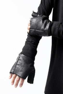 thomkrom FINGER OUT GLOVES / BOA FLEECY JERSEY (BLACK)