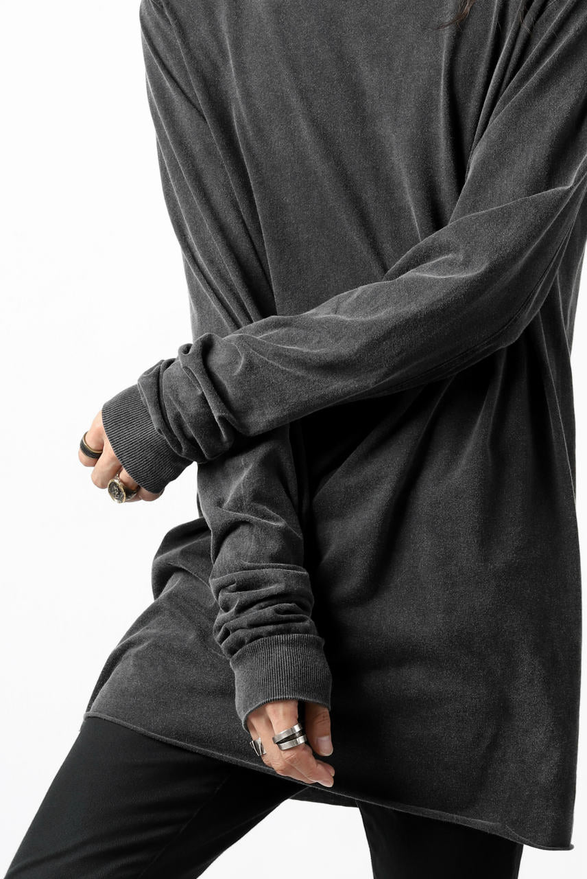 "11 BY BORIS BIDJAN SABERI LONG SLEEVE ""LS1B-F-1101"" (DARK PUNK GREY)"