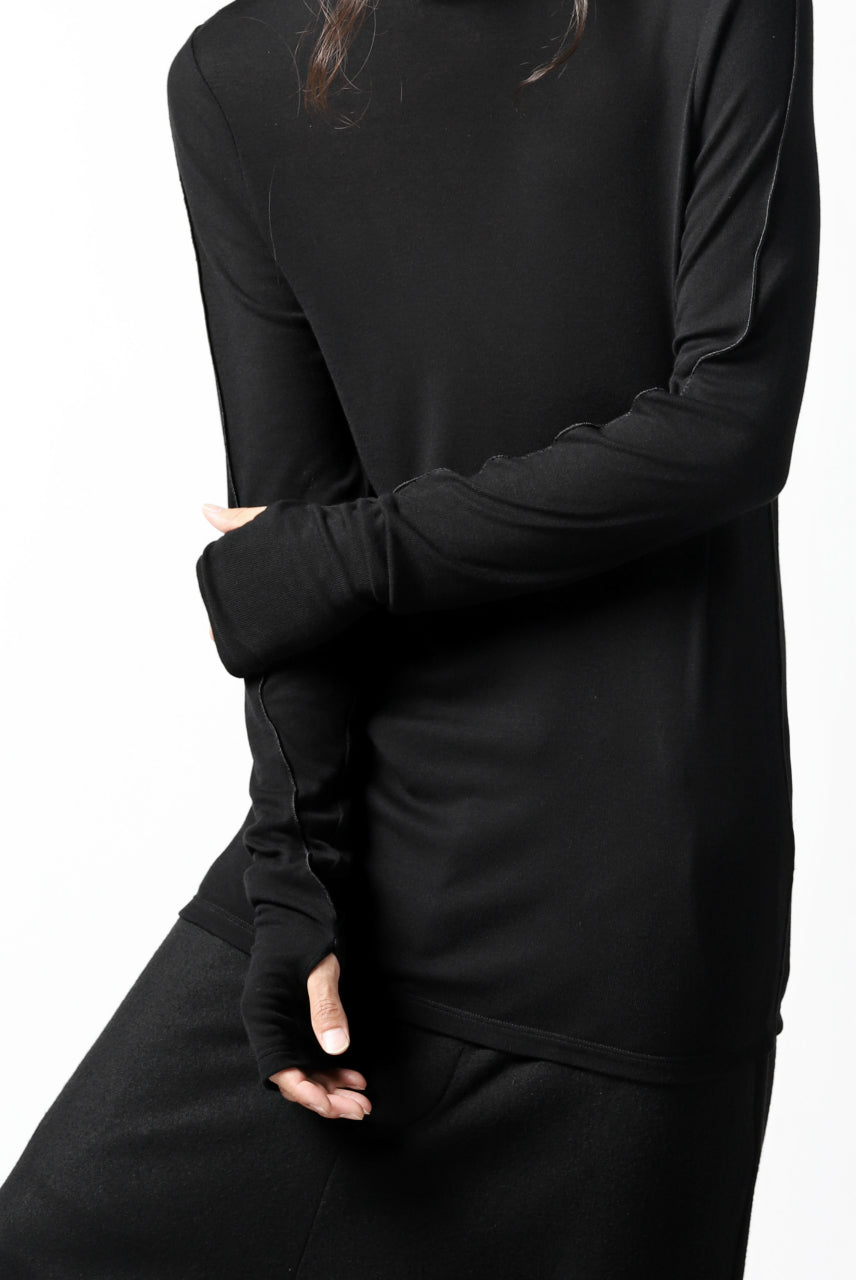 Nostra Santissima HIGH NECK JERSEY TOPS (BLACK)