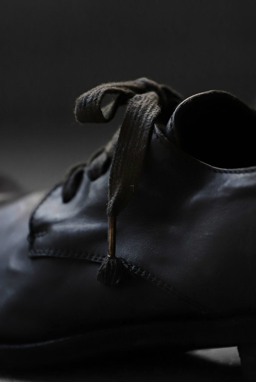 A DICIANNOVEVENTITRE A1923 DERBY SHOES 033N / HORSE FIORE OILED LEATHER (NERO)
