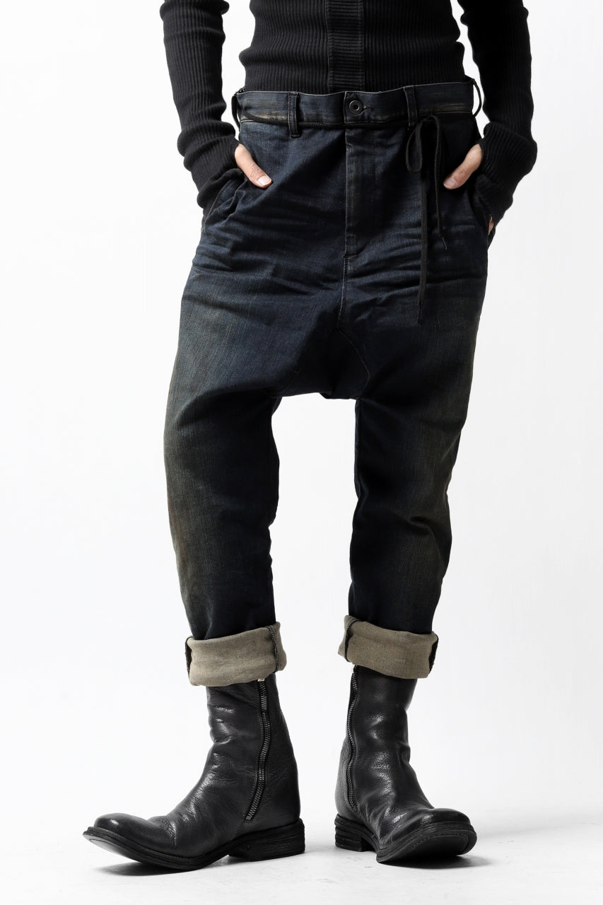ISAMU KATAYAMA BACKLASH SARROUEL PANTS / HIGH POWER STRETCH DENIM (INDIGO)