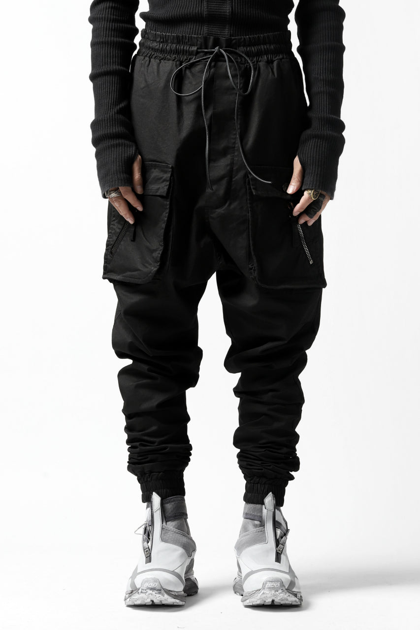 RUNDHOLZ DIP MILITARY LOWCROTCH JOGGERS (BLACK)