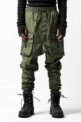 RUNDHOLZ DIP MILITARY LOWCROTCH JOGGERS (MOSS*KHAKI GREEN)