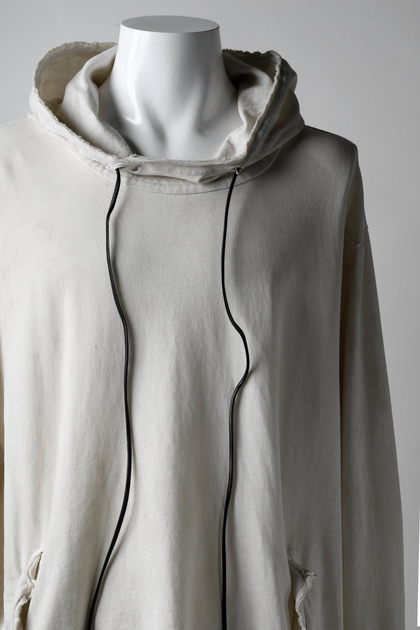 RUNDHOLZ DIP HOODED PULLOVER / DYED COTTON SWEAT (MARBLE)