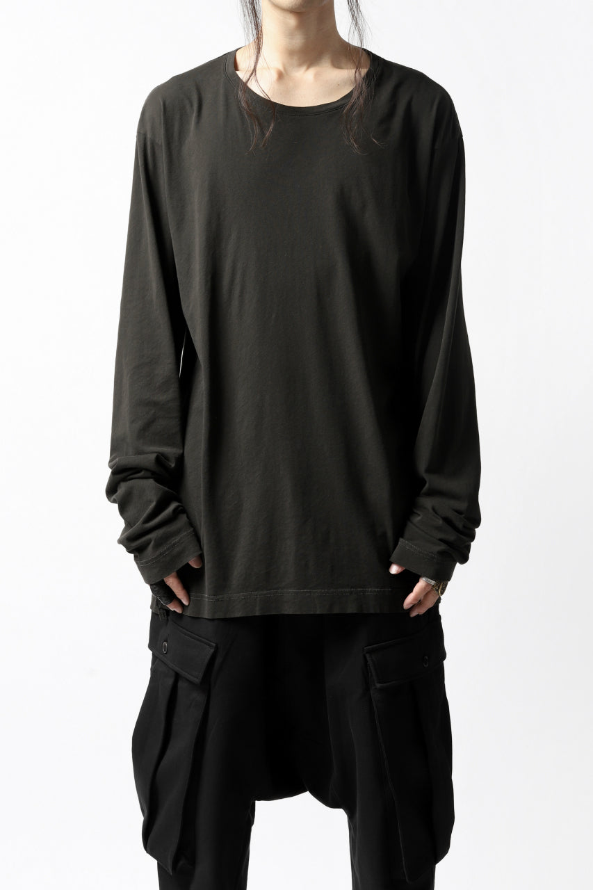 RUNDHOLZ DIP LONG SLEEVE CUT SEWN (PINE*DARK KHAKI)