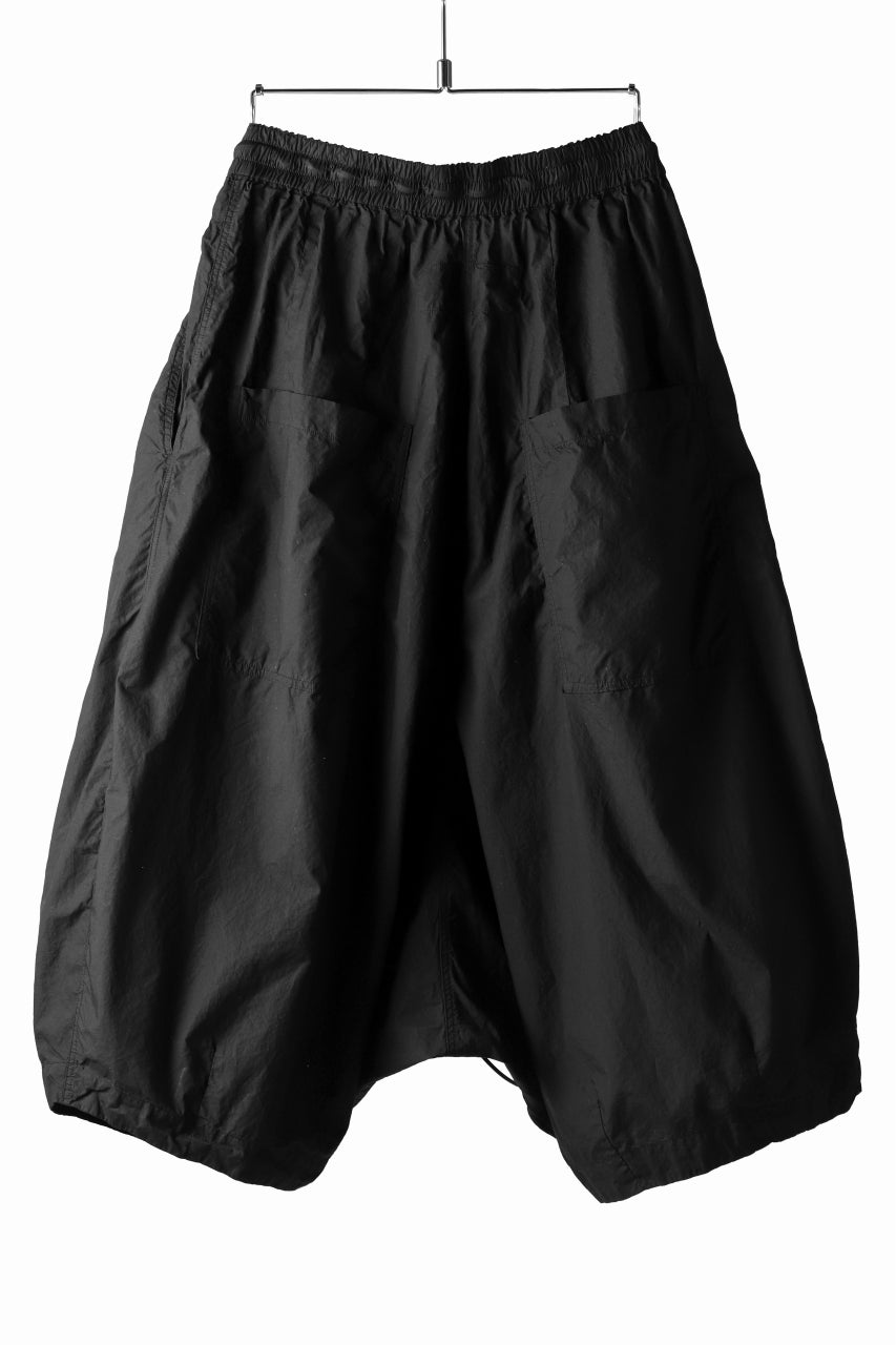 RUNDHOLZ DIP DROPCROTCH WIDE SHORTS / DYED C-CLOTH (BLACK)