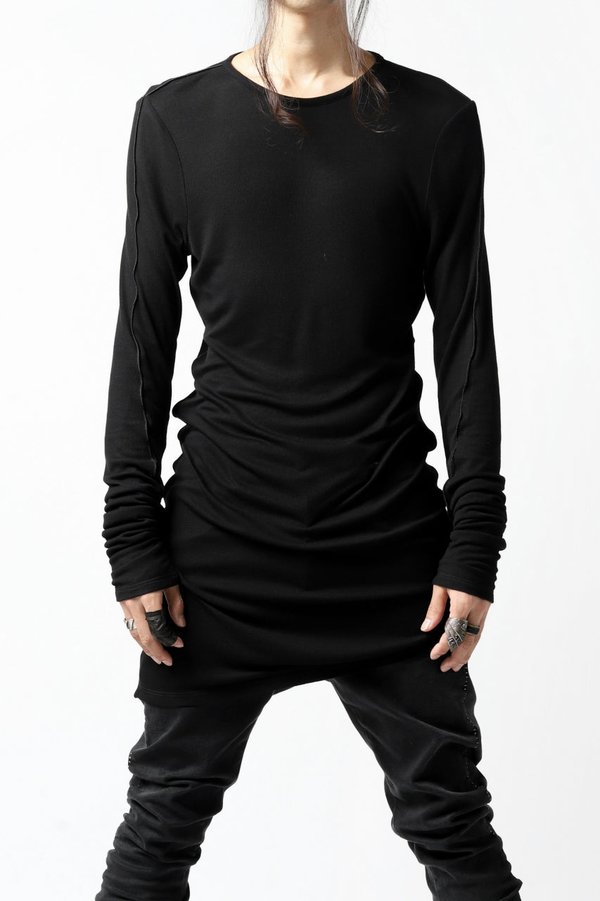 Nostra Santissima CREW NECK LONG JERSEY TOPS (BLACK)